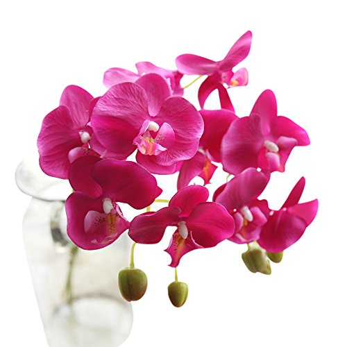 Kunstblumen-pflanzen,Phalaenopsis Blumenarrangements Früchte Gemüse Pflanzen Zweige Dekoration DIY Rosa Blumefür Hauptdekor Geburtstag, Hochzeit, Valentinstag, Muttertag, Jubiläum, Weihnachtstag