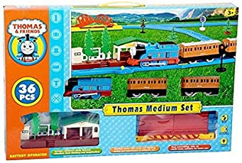 ND TOYS World Thomas and Friends Trains for Kids, (Multicolour) - Set of 36