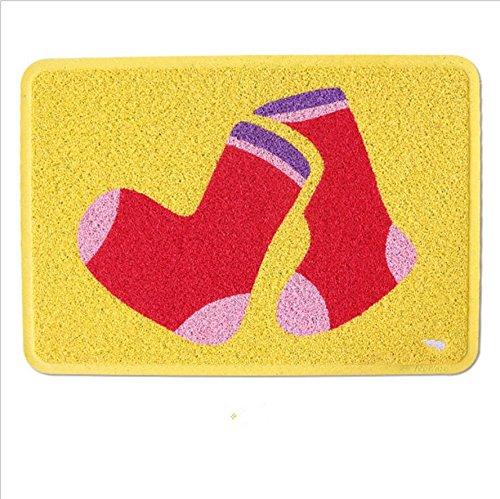 GFYWZ Zerbino di stuoia coperta rettangolare in PVC , 1 , 58*82cm
