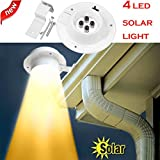 diadia New 4 LED Solar Powered Gutter Licht Outdoor/Garten/Hof/Wand/Zaun/Weg Lampe