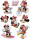 Unbekannt 8 TLG. Set _ Fensterbilder -  Minnie Mouse  - Sticker Fenstersticker Aufkleber - statisch haftend / selbstklebend + wiederverwendbar - Fensterbild / z.B. fü..