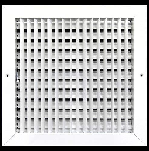 45,7x 45,7cm verstellbar Air Supply Diffusor-Klimaanlage Vent Duct Cover Seitenwand oder CIELING Gitter, Register-hoher Luftstrom-Weiß -