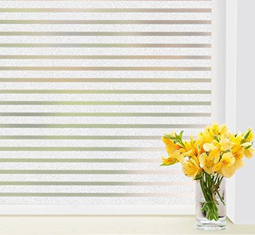Vinilo para Ventanas Sin Pegamento Película 43 x 300 cm Vinilo de Ventana de privacidad Adhesivos para Hogar Dormitorio Cocina Oficina