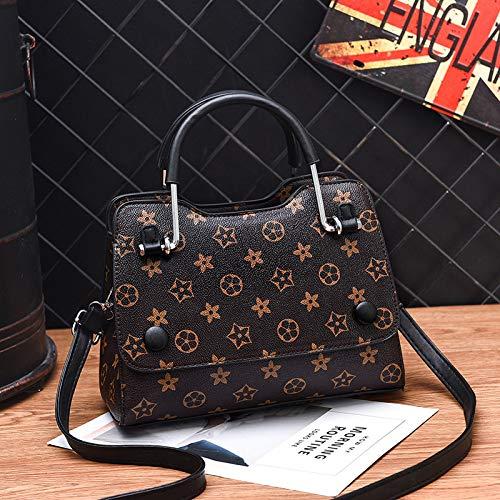 LFGCL Bags womenWomen's Fashion Lässige Crossbody-Umhängetasche, Old Flower Black