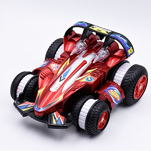 Aufrecht Laufend 360 ° Side Drift Wireless Remote Dump Stunt Racing Racing,Red