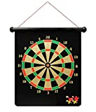 #9: Aurion Double Faced Portable, Foldable High Quality Magnetic Dart Game With 4 Colourful Non Pointed Darts. Strong Magnetic Hold and Darts Stick