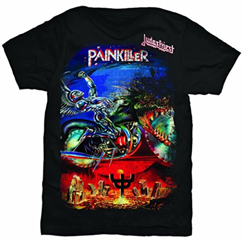 Judas Priest Painkiller Rob Halford Heavy Metal oficial Camiseta para hombre (XX-Large)