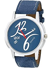 IZOR Blue Dial Analogue Casual Wear Stylish Watch For Men & Boys- IZWAT2004