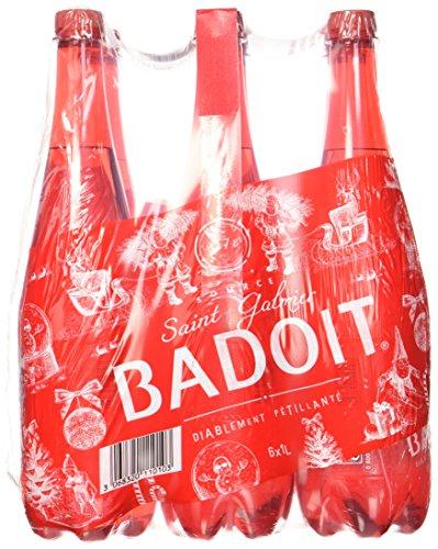 BADOIT Eau Minérale Gazeuse Diablement Pétillante Pack de 6 Bouteilles x 1 L