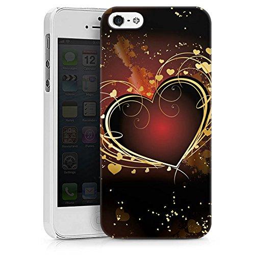 Apple iPhone X Silikon Hülle Case Schutzhülle Verliebt Herz Liebe Hard Case weiß