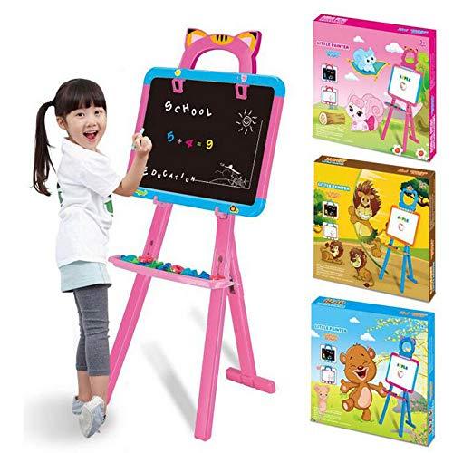 Zeichenbrett für Kinder Abnehmbare doppelseitige Kinder-Staffelentafel / magnetisch trocken abwischbare Tafel - Kinder-Staffelei mit Aufbewahrungsbox aus Holz-Kunst-Staffelei für Kinderzeichnung und -