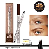 Natural Tattoo Eyebrow Pen Waterproof Colores para cejas Brow Gel para maquillaje cejas Duradero Eyebrow Pencil (Brown)