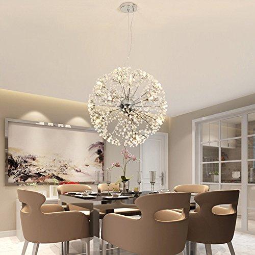 ZOOVQI Pendelleuchte LED Moderne Pendellampe Hängeleuchte Höheverstellbar  Kronleuchter Geeignet Für Wohzimmer Esstisch, Treppe,.
