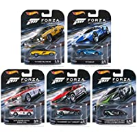 Hot Wheels 2016 Retro Entertainment FORZA Motorsport Set of 5 1/64 Scale Collectible Die Cast Toy Model Cars by HW