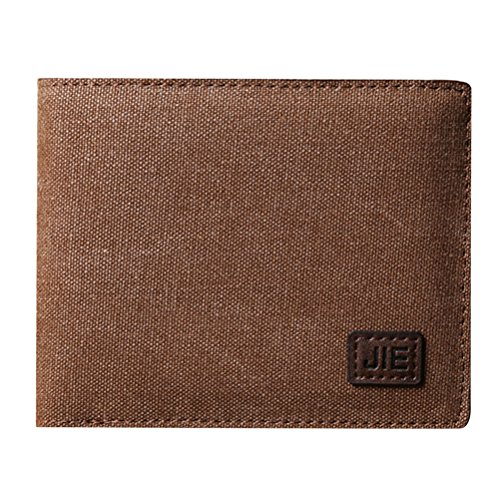 Zhhlinyuan Herrenmode Zubehör Mens Boys Durable Soft Canvas Money Case Wallet Organizer Credit Card Holder 11.5*1.5*9.5cm (Canvas Soft Case)