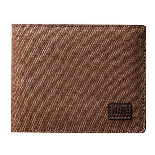 Zhhlinyuan Herrenmode Zubehör Mens Boys Durable Soft Canvas Money Case Wallet Organizer Credit Card Holder 11.5*1.5*9.5cm (Soft Canvas Case)