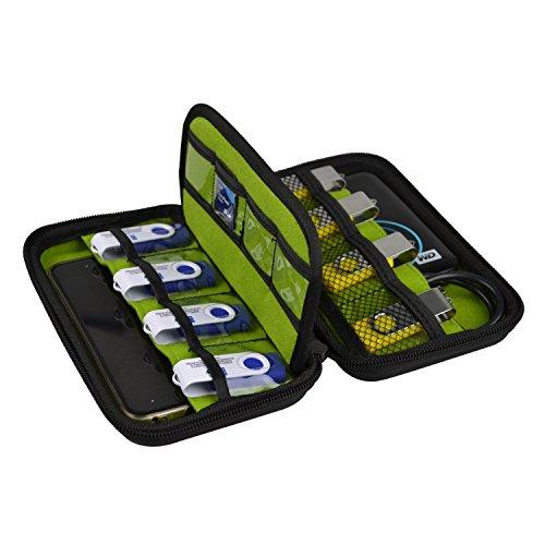 BlueBeach® Festplattentasche Schutzhülle Tasche Tragbar Etui Schutztasche für Externe Festplatte 2,5 Zoll HDD / USB-Flash-Laufwerke / Ladekabel / SD Karten (Western-handy-halter)