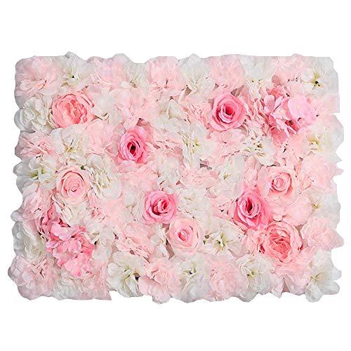 LVZAIXI Künstliche Blume Rose Crystal Wall Panel Wedding Background -