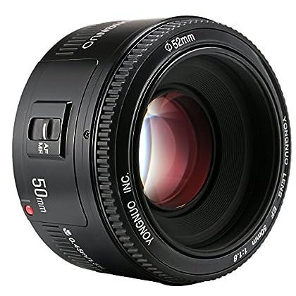 Yongnuo 50mm f1.8Lente Gran Apertura Auto Focus Lens para Canon EF Monte EOS Cámara y # xFF0C; etc. 5DIII/5DII/6d/60d/600d/650d/1100d/1100d/1200d/10d/30d/300d/350d