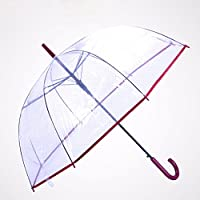 CNBBGJ Paraguas transparente limpio impresiones engrosada paraguas automático mango largo hombres y mujeres aumentó pareja creativa