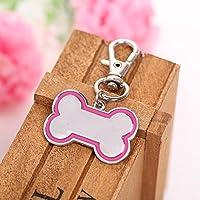 Kicode Collar Colgante Resplandecer Tarjeta de identificación Perrito Medio Tag Mascota Identidad