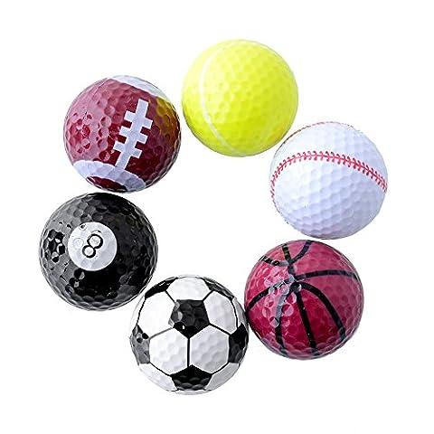 Forfar 1 Set 6pcs Sport Nouveauté Assortiment Ensemble de golf Boule cadeau