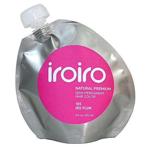 Iroiro Premium Natural Semi-permanenten Haar Farbe 105Iro-Pflaume (8oz)