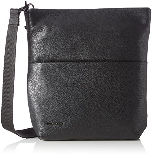 Mandarina Duck Damen Mellow Leather Tracolla Umhängetasche, Schwarz (Nero), 10x21x28.5 cm
