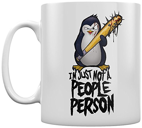 Psycho Penguin Tasse Not A People Person Blanc