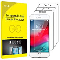 JETech Screen Protector for Apple iPhone SE 2020, iPhone 8, iPhone 7, iPhone 6s, and iPhone 6, Tempered Glass Film, 3-Pack