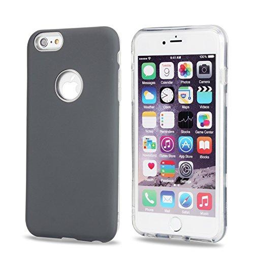 JIALUN-étui pour téléphone Couvercle arrière Ultra-mince double couche pour couchette pour IPhone 6 Plus et 6s Plus ( Color : Rose-carmine ) Gray