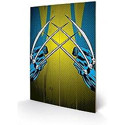 Lobezno - Wolverine Claws, Marvel Comics Cuadro De Madera (60 x 40cm)