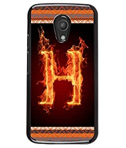Printvisa 2D Printed Alphabet H Designer back case cover for Motorola Moto G2 -D4197