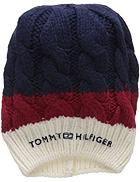 Tommy Hilfiger Damen Strickmütze Chunky Cable Beanie, Mehrfarbig (Corporate Clrs 901), One Size