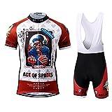 Thriller Rider Sports® Herren Ace of Spades Sport & Freizeit MTB Fahrradbekleidung Radtrikot und Trägerhose Anzüge X-Large