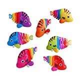 #5: Vibgyor Vibes™ Key Operated wind up stalking toy: Mini Robotic Fish in candy colours. Pack of 1