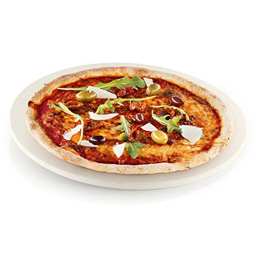 Eva Solo - Pierre à pizza naturel/céramique/Ø 35,5cm/Pour four, barbecue au charbon et à gaz