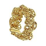 Armband aus 18-karätigem Gelbgold, 18 Karat, Modell A Teppich, 48.50, Breite 3.50 cm, für Damen