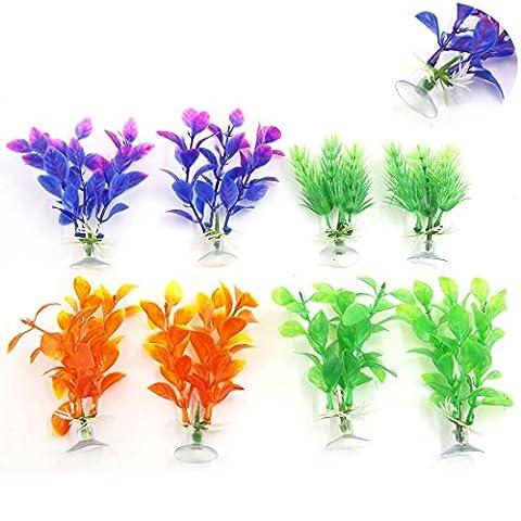 sourcingmap® sortiert Farbe Aquarium Kunststoff Pflanze Dekoration Saugfuß Basis Plastik