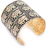 YouBella Gold Plated Elephant Cuff Bracelet for Women