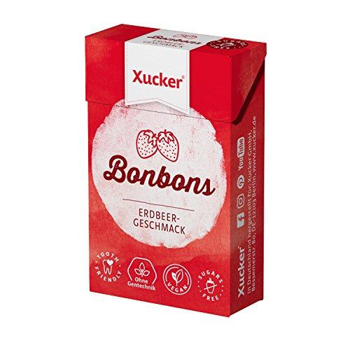 50 g Xylit-Bonbons 'Erdbeere' von Xucker (Erdbeer-bonbons)