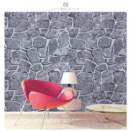 lsaiyy Backstein Selbstklebende Tapete 3D Retro antiken Restaurant Shop Renovierung Aufkleber Tapete-45CMX10M