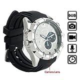 WISEUP 8GB 1920x1080P HD Cámara Espía Reloj Grabadora de Vídeo Mini DV Videocámara con Función de Audio