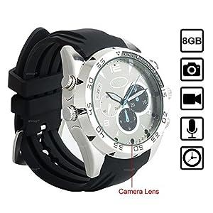 WISEUP 8GB 1920x1080P HD Spion Kamera Armbanduhr Tragbar Versteckt Überwachungskamera Uhr mit Speicher und Aufzeichnung
