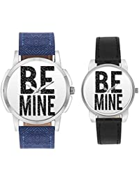 Couple Watches For Men And Women - BigOwl Multicolor Dial Couple Combo Watch For Men And Women   Valentines Day...