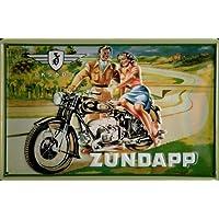 Blechschild Zündapp OKS 601 Motorrad Sozius Schild retro Reklame Moped Werbeschild Nostalgieschild