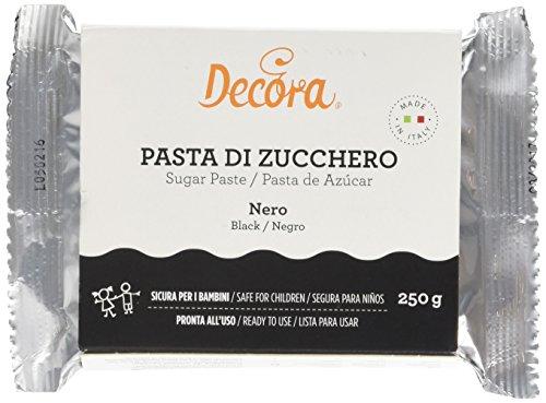 Decora Pasta di Zucchero, Nera 1 x 250 gr