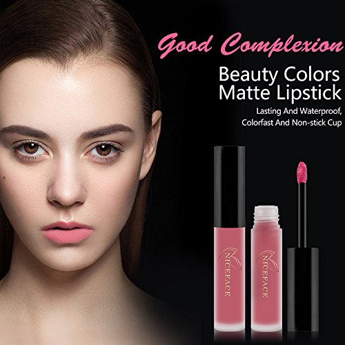 Rechoo Beauty Sexy 3PCS/set Non-stick Cup Waterproof Lipgloss Matte Liquid Lipstick Long Lasting Lip Gloss Matte Lipstick Style A