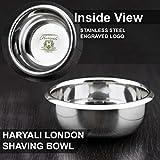 Haryali London Bol de rasage classique en acier inoxydable