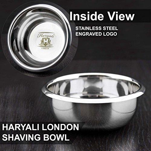 Haryali London - Tazón de Afeitado de Acero Inoxidable Clásico